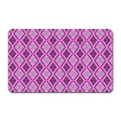 Argyle Large Pink Pattern Magnet (rectangular)