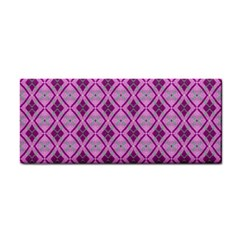 Argyle Large Pink Pattern Hand Towel by BrightVibesDesign