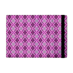 Argyle Large Pink Pattern Ipad Mini 2 Flip Cases by BrightVibesDesign
