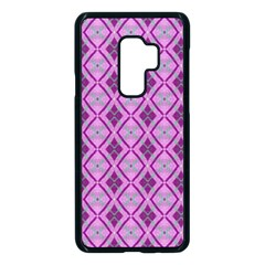 Argyle Large Pink Pattern Samsung Galaxy S9 Plus Seamless Case(black) by BrightVibesDesign