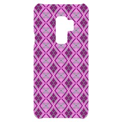 Argyle Large Pink Pattern Samsung S9 Plus Black Uv Print Case by BrightVibesDesign