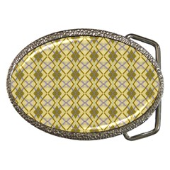 Argyle Large Yellow Pattern Belt Buckles by BrightVibesDesign
