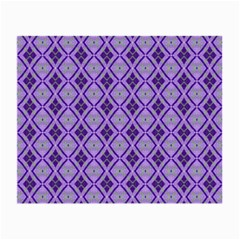 Argyle Large Purple Pattern Small Glasses Cloth by BrightVibesDesign