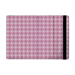 Argyle Light Red Pattern Ipad Mini 2 Flip Cases by BrightVibesDesign