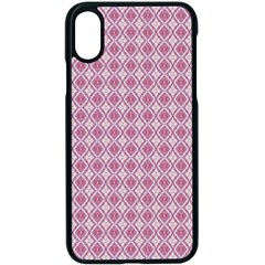 Argyle Light Red Pattern Iphone Xs Seamless Case (black) by BrightVibesDesign