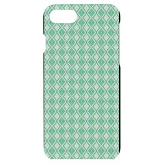 Argyle Light Green Pattern Iphone 7/8 Black Uv Print Case by BrightVibesDesign
