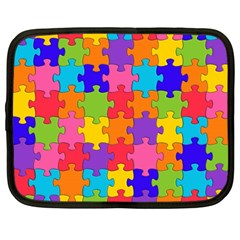 Jigsaw Rainbow Netbook Case (large) by TimelessFashion