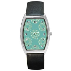 Floral Vintage Barrel Style Metal Watch by TimelessFashion