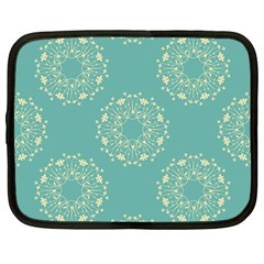 Floral Vintage Netbook Case (large) by TimelessFashion