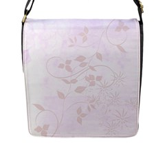 Floral Wedding Flap Closure Messenger Bag (l) by TimelessFashion