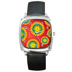 Mandala Dream Square Metal Watch by TimelessFashion