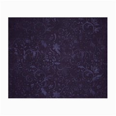 Romantic Purple Flowers Small Glasses Cloth (2 Sides) by TimelessFashion