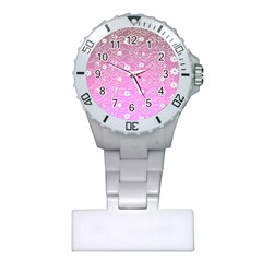 Sweet Flowers In Pink Plastic Nurses Watch by TimelessFashion