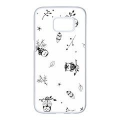 Wise And Big Eyes Samsung Galaxy S7 Edge White Seamless Case