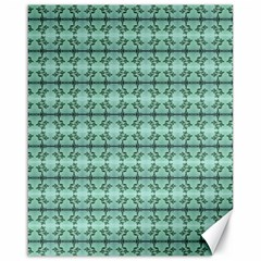 Cute Flowers Vines Pattern Pastel Green Canvas 16  X 20  by BrightVibesDesign