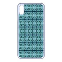 Cute Flowers Vines Pattern Pastel Green Iphone Xs Max Seamless Case (white) by BrightVibesDesign