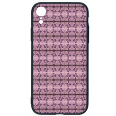 Cute Flowers Vine Pattern Pastel Coral Iphone Xr Soft Bumper Uv Case by BrightVibesDesign