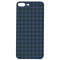 Argyle Dark Purple Black Pattern Iphone 7/8 Plus Soft Bumper Uv Case by BrightVibesDesign