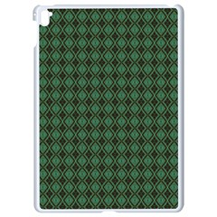 Argyle Dark Green Brown Pattern Apple Ipad Pro 9 7   White Seamless Case by BrightVibesDesign