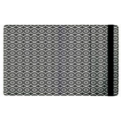Ornate Oval Pattern Grey Black White Apple Ipad Pro 12 9   Flip Case by BrightVibesDesign