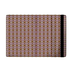Ornate Oval  Pattern Yellow Blue Ipad Mini 2 Flip Cases by BrightVibesDesign