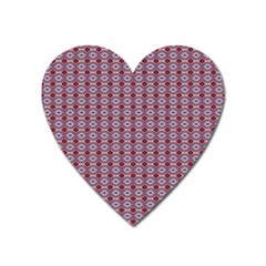 Ornate Oval  Pattern Red Pink Heart Magnet by BrightVibesDesign