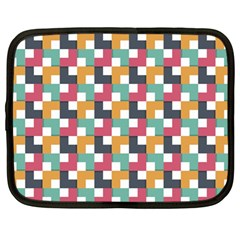 Retro Squares Netbook Case (large) by TimelessFashion
