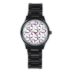 Simply Retro Pink Stainless Steel Round Watch