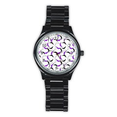 Simply Retro Purple Stainless Steel Round Watch