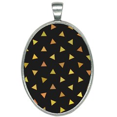 Twinkeling Triangles Oval Necklace