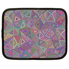 Triangle Chaos Netbook Case (xl) by TimelessFashion