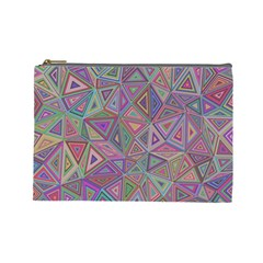 Triangle Chaos Cosmetic Bag (large) by TimelessFashion
