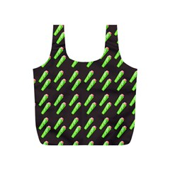 Ice Freeze Grey Pattern Full Print Recycle Bag (s)