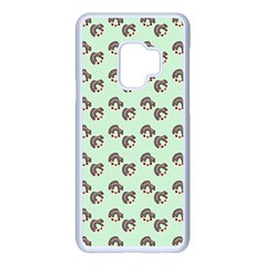 Kawaii Dougnut Green Pattern Samsung Galaxy S9 Seamless Case(white)