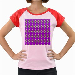 Ice Freeze Purple Pattern Women s Cap Sleeve T-shirt by snowwhitegirl