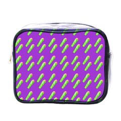 Ice Freeze Purple Pattern Mini Toiletries Bag (one Side) by snowwhitegirl
