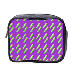 Ice Freeze Purple Pattern Mini Toiletries Bag (two Sides) by snowwhitegirl