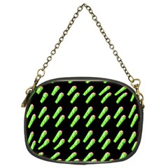 Ice Freeze Black Pattern Chain Purse (one Side) by snowwhitegirl