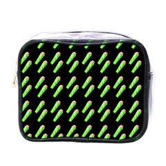 Ice Freeze Black Pattern Mini Toiletries Bag (one Side) by snowwhitegirl