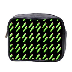 Ice Freeze Black Pattern Mini Toiletries Bag (two Sides) by snowwhitegirl