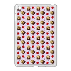 Doll And Cherries Pattern Apple Ipad Mini Case (white)