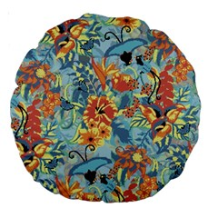 Flowers And Butterflies Pattern Large 18  Premium Round Cushions