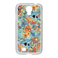 Flowers And Butterflies Pattern Samsung Galaxy S4 I9500/ I9505 Case (white) by goljakoff