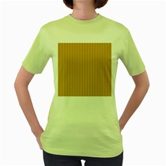 Yellow Knitting Pattern Women s Green T Shirt