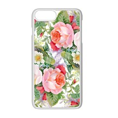 Flowers Pattern Iphone 8 Plus Seamless Case (white)