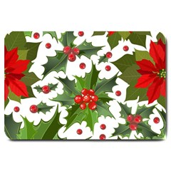 Red Berries Pattern Large Doormat  by goljakoff