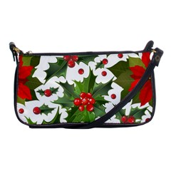 Red Berries Pattern Shoulder Clutch Bag by goljakoff