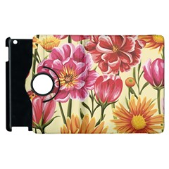 Colorful Flowers Apple Ipad 2 Flip 360 Case by goljakoff