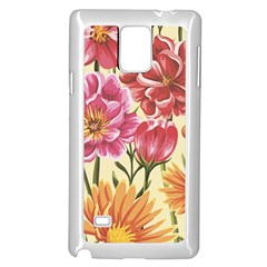 Colorful Flowers Samsung Galaxy Note 4 Case (white) by goljakoff