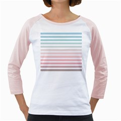 Horizontal Pinstripes In Soft Colors Girly Raglan by shawlin